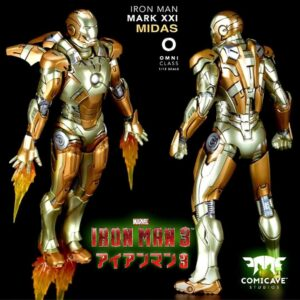 Comicave 1/12 Super Alloy Fully Articulated Iron Man MARK XXI MK21 Midas