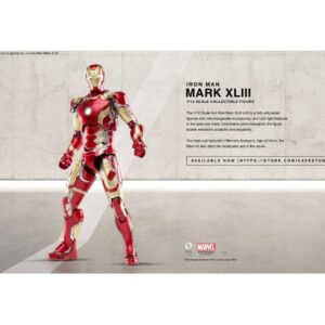Comicave MK43 1/12 Super Alloy Fully Articulated Iron Man Mark XLIII