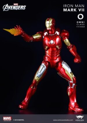 Comicave MK7 1/12 Super Alloy Fully Articulated Iron Man Mark VII