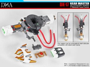DNA - DK-17 - Gear Master Accessory Series - TF Mammoth Fusion Cannon Add On