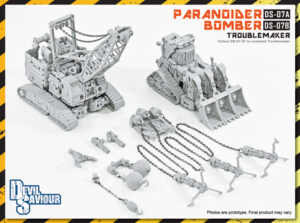 DS-07A Paranoider DS-07B Bomber - Toublemaker - 8 Combiners Left Arm