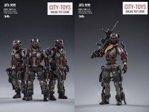JoyToy Skeleton Forces Double Sickle SQUAD 星际联邦骷髅团双镰刀小队三人组